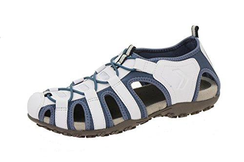 Geox Damen Sandale - Outdoor Sandaletten SAND.STREL - donna sandal strel u D7125U 05415 C1260 Weiß, EU 37