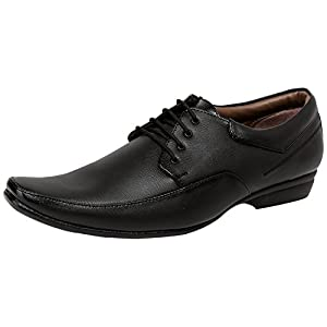 Axonza Men's synthetic leather Office wear 184 Black lace up Formal Shoes