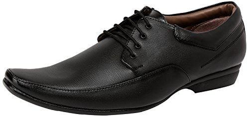 Axonza Men's synthetic leather Office wear 184 Black lace up Formal Shoes-9UK