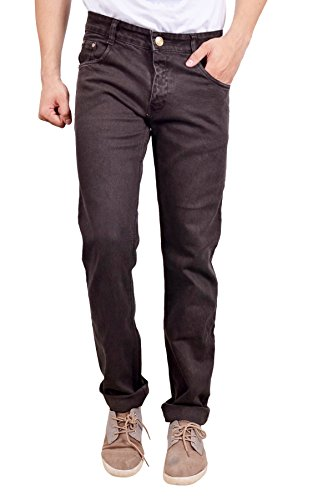 Studio Nexx Men's Denim Regular Fit Jeans (Coffee, Size - 36)  available at amazon for Rs.749