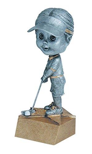Weiblich Golfer Wackelkopf Trophy-Damen Golf Bobble Head Award-Gravurplatte auf Anfrage-Jahrzehnt Awards -