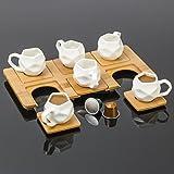 'Ottavia 13pièces Tasses à caféà expresso avec plateau en bambou Dessous de verres et de Chai Buddy®