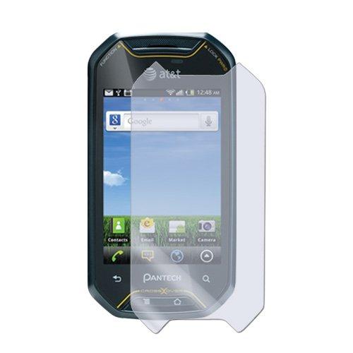 Amzer Displayschutzfolie mit Blendschutz für Pantech Crossover, inkl. Reinigungstuch, transparent, 1 Packung (Pantech Handy Crossover)