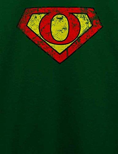 O Buchstabe Logo Vintage T-Shirt Dunkel Grün