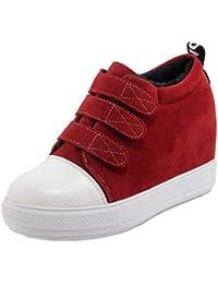 Amazon.es  Botines Mujer - Velcro   Botas   Zapatos para mujer ... 07dd82c53f9