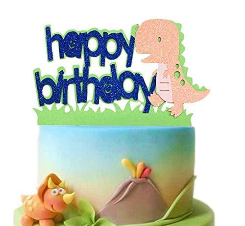 JeVenis Dinosaurier Happy Birthday Kuchen-Topper Dinosaurier Kuchen Topper Dinosaurier Geburtstag Party Dekoration für Dinosaurier Jurassic Park Mottoparty