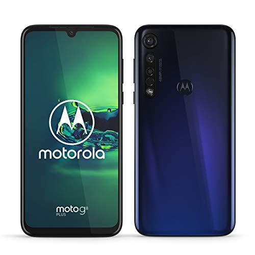 moto g8 plus Dual-SIM Smartphone (6,3-Zoll-Max Vision-FHD+-Display, 48-MP-Quad-Pixel-Dreifach-Kamerasystem, 64 GB/4 GB, Android 9) Dunkelblau