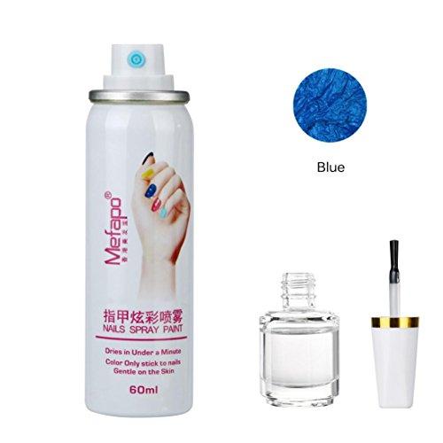 Nagellack Spray , Yogogo Fundament Schicht Nail Lack Set Quick Dry Nails (I)