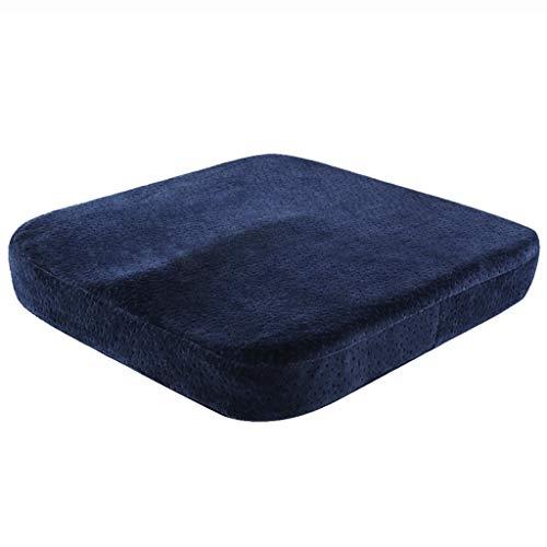 Hussen, Auflagen&Überwürfe Ridge Cushions Bürokissen Computer-Kissen Student Chair Kissen Männer und Frauen Kissen Speicher Baumwolle Butt Pads (Color : Blue, Size : 40cm*40cm*6cm)