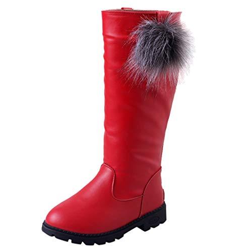 TuHao88 Baby Mädchen Stiefel,Herbst und Winter Neue Kinderschuhe Mädchenschuhe warme Lederstiefel hohe Stiefel sowie Samtstiefel (Neue Sandale Damen Keil Leinwand)
