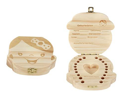 M/ädchen Milchzahndose Milchzahnbox Milchz/ähne Box Zahndose perfekt als kleines Geschenk Jungen M/ädchen LATTCURE Zahnbox
