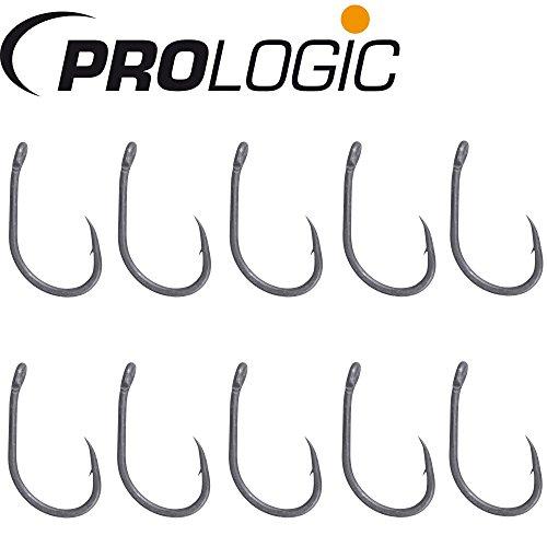 Prologic Hoox XC5-10 Karpfenhaken, Einzelhaken zum Karpfenangeln, Haken für Boilies, Angelhaken zum Angeln auf Karpfen, Größe:2
