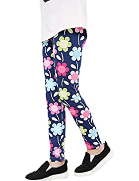 Covermason Niña Clásico Multicolor Impresión Leggings Elástico Pantalones para 2-13 Años