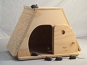Keope taglia XL, casetta indoor cuccia per gatti, Blitzen made in Italy 100%