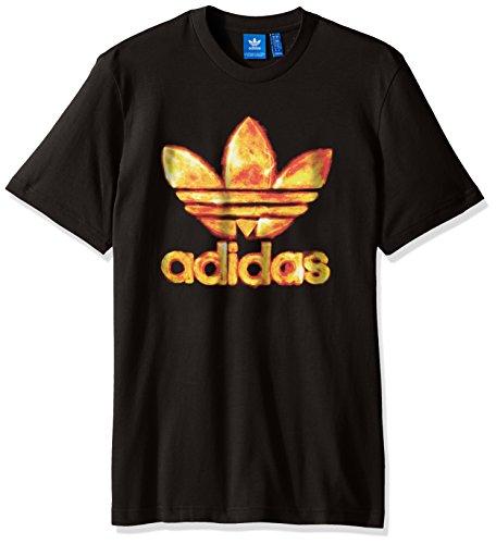 Adidas Originals Herren Originals Trefoil Tee schwarz/Feuer