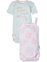Absorba Underwear - lot de 2 - Bodies US MC + Bretelle Enjoy Flower - Body Bébé - Fille