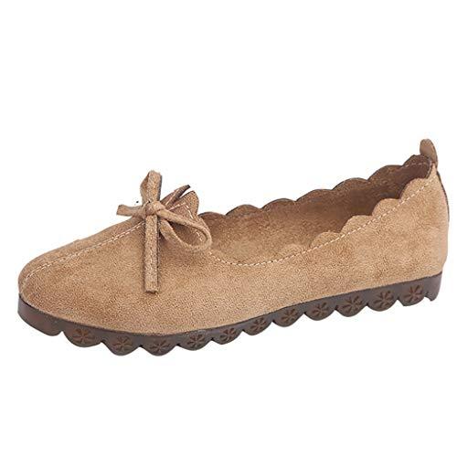 Eaylis Schuhe Ladies 'Lace Koreanischen Flachen Boden Kleine Frische Bogen Erbsen Schuhe
