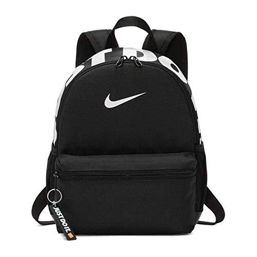 Nike y nk brsla jdi mini bkpk, zaino sportivo unisex bambini, black/black/glossy white, misc