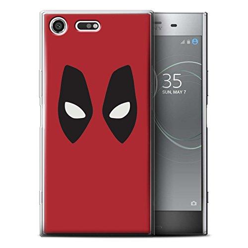 Stuff4 Gel TPU Hülle / Case für Sony Xperia XZ Premium / Deadpool Maske Inspiriert Muster / Superheld Comic-Kunst Kollektion