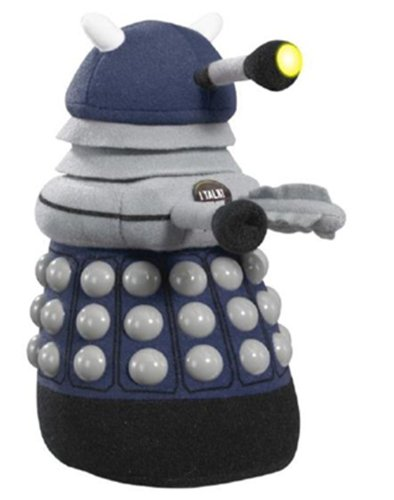 Doctor Who Dark Dalek Talking Plush with LED Light (Medium, Blue)