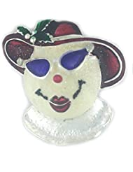 * Reino Unido * Navidad mujer Muñeco de nieve/snowoman broche Pin Holiday rojo gafas plateado lazo bisutería secreto Santa
