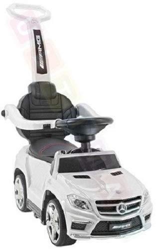 Coche para niños Correpasillo con función de Mecedora: Mercedes GL63 AMG SX1578 – Blanco