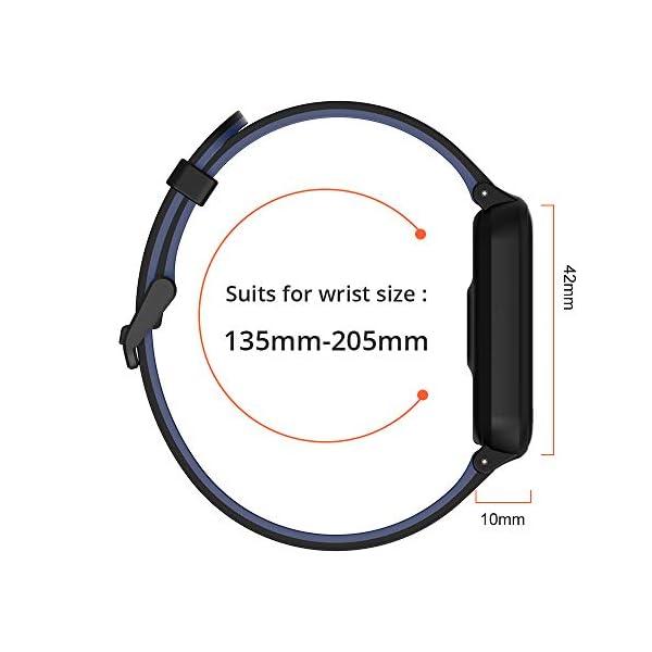 Fitpolo Bandas de reemplazo de Silicona H706 Fitness Tracker, Correa de Pulsera Activity Tracker, No Tracker (Paquete de… 7