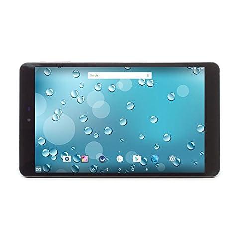 """Tablette Tactile Android 5.1 Lollipop, 8"""" pouces Quad-core MediaTek, 1280x800 IPS, 1 Go de RAM, 16 Go de mémoire NAND, WIFI, GPS, HDMI, Bluetooth Noir"""