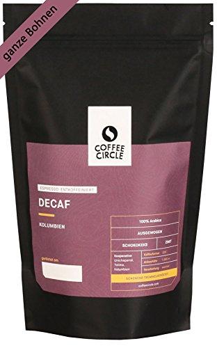 Coffee Circle | Premium Espresso Decaf | 350g ganze Bohne | Entkoffeinierter Espresso mit...