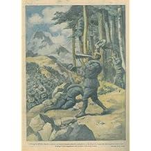 """Ingigantito dal megafono il grido """"Bersaglieri d'Italia, Savoia!"""" ad incitare il nostro reggimento alla conquista di una vetta."""