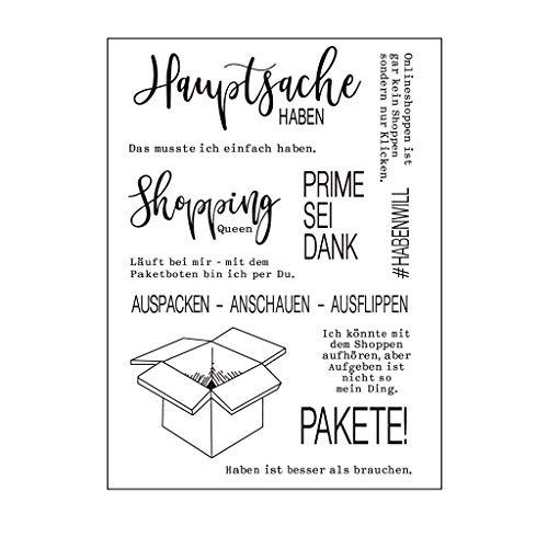 Bogji Deutsch Wörter Box DIY Silikon Clear Stamp Cling Siegel Sammelalbum Prägung Foto DIY Weihnachten Valentinstag Thanksgiving Geschenke