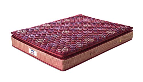 Peps Springkoil Bonnell Pillow Top 6-inch Queen Size Spring Mattress (Maroon, 75x60x06) With Two Free Pillow Image 3