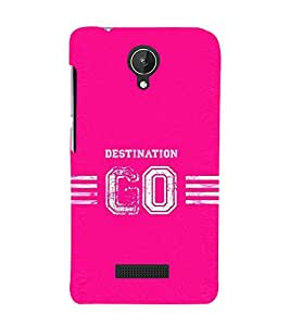 PrintVisa Designer Back Case Cover for Micromax Canvas Spark Q380 (Destination Go Design :: Go anywhere :: Baby pink design :: Stylish dark pink color design :: Cherry blossom pink design wallpaper :: Shades of Pink)