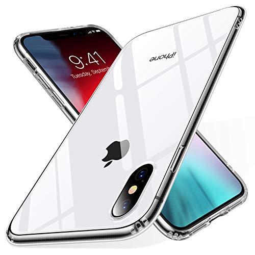 TORRAS HD Klar Dünn iPhone X Hülle/iPhone XS Hülle [Anti-Gelb und Voller Schutz] iPhone X/XS Case PC und TPU Hybrid Handyhülle für iPhone X/XS - Transparent