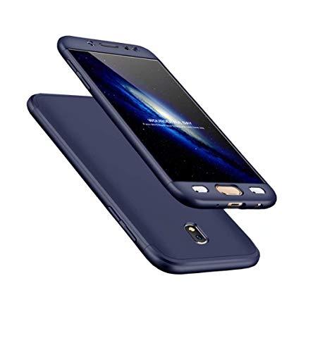 Lucky phone Compatibile Custodia Samsung Galaxy J5/J5 PRO,3 in 1 Cover Skin Ultra Sottile 360 Gradi Full Body Bumper Ibrido Case,PC Hard Shell Copertura Protettiva Opaco Cover,-Blu
