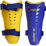 #10: Vector X BRAZIL 100-Percent-Cotton-Rib-Knit Shin Pads, Men's Large (Blue/Yellow)
