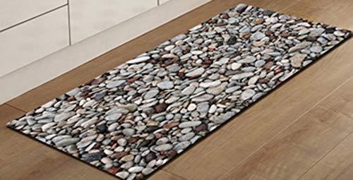 PENGYUE Carpets Extra Lange Badezimmer Läufer Teppiche Rutschfeste Stein Badematte Für Bad Absorbierende Küche Boden Teppich Maschine Waschbar (Bad-teppich Extra Lang)