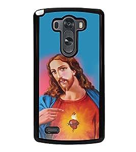 Fuson Designer Back Case Cover for LG G3 :: LG G3 Dual LTE :: LG G3 D855 D850 D851 D852 (Jesus Church Etymology Emmanuel Christ)