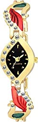 Girls Watches with Gold Multicolour Morlo Type Belt New Style Branded Fashion Luxurious Watch 2