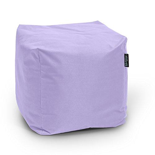 BuBiBag Sitzsack Würfel 45x45x45cm mit Füllung Cube Sitzwürfel Sitzkissen Bodenkissen Kissen...