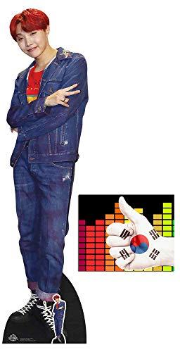 BundleZ-4-FanZ by Starstills J-Hope Bangtan Boys Lebensgrosse und Klein Pappaufsteller mit 25cm x 20cm Foto (Pappe Promi Ausschnitte)