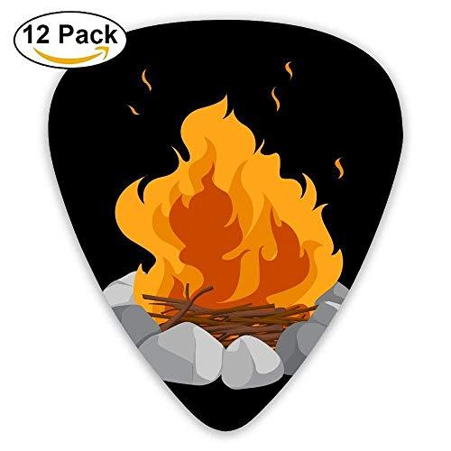 Firing Fire Pile Classic Guitar Pick (12 Pack) for Electric Guita Bass -