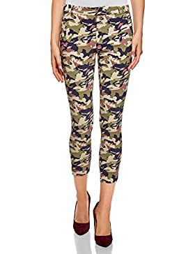 oodji Ultra Mujer Pantalones Skinny de Viscosa