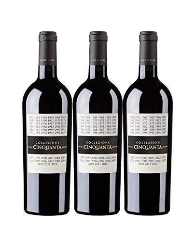 Vorteilspaket San Marzano Collezione Cinquanta Vino Rosso d\' Italia 0,75 L 2012 Rotwein trocken