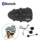 Radioddity V9 Bluetooth Interphone Motorrad Schutzhelm Gegensprechanlage Headset bis zu 1.2KM 2 Fahrer, handbefreit Automatisch Anruf anterworten VOX Sprachansage IP65 Wasserdicht