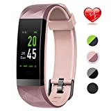 Lintelek Fitness Tracker Fitness Armband mit Pulsmesser Wasserdicht IP68 0,96 Zoll Farbbildschirm...