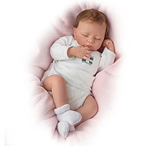 Ashley Breathes with Hand-Rooted Hair - So Truly Realå¨ Lifelike, Interactive & Realistic Newborn Baby Doll 17-inches by The Ashton-Drake Galleries