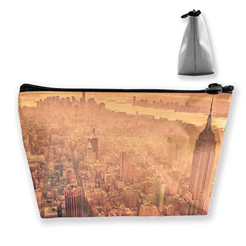 Bsh8hr84 New York Makeup Bag Zipper Cosmetic Portable Storage