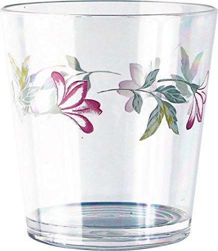 Corelle Coordinates Pink Trio 14-Ounce Acrylic Glass, Set of 6 by CORELLE Corelle Pink Trio