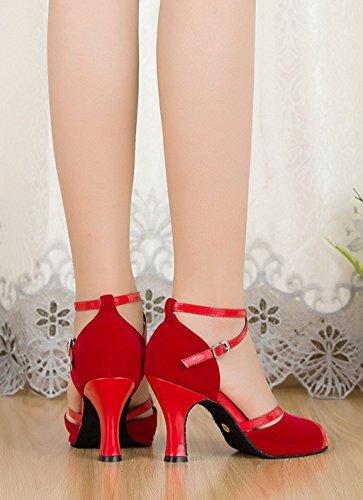 Meijili ,  Damen Tanzschuhe , rot – rot – Größe: 42 - 6